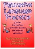 Figurative Language Worksheet and/or Quiz