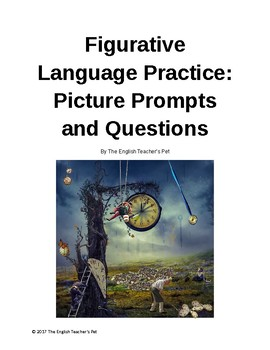 Figurative Language Worksheets: 15 Picture Prompts with Writing Practice