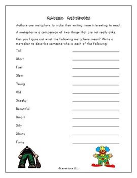 Figurative Language Worksheets by Tools for Teachers by ...