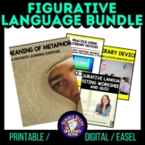 Figurative Language Worksheets & Activities Bundle   Print