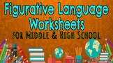Figurative Language Worksheets for Middle and High School