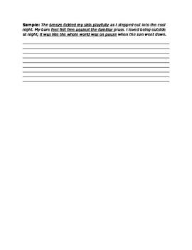 Figurative Language Writing Practice