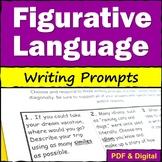 Figurative Language Writing Prompts - Tic Tac Toe
