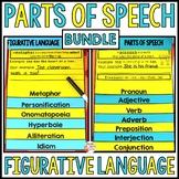 Figurative Language and Parts of Speech Flip Book BUNDLE
