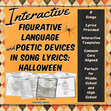 HALLOWEEN: Writing Analysis, Figurative Language, Poetic Devices