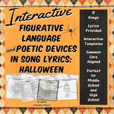 HALLOWEEN: Writing Analysis, Figurative Language, Poetic Devices