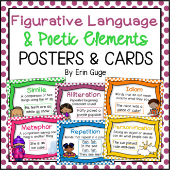 Figurative Language and Poetic Elements Posters and Cards