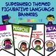Figurative Language and Poetry Bundle Color Superhero Theme Banners Posters