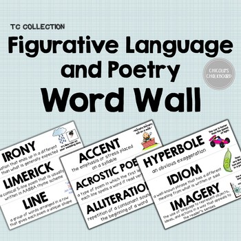 Figurative Language and Poetry Word Wall - From the TC Collection
