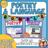 Figurative Language and Poetry Writing Bundle Printables and Graphic Organizers