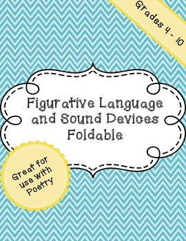 Figurative Language and Sound Devices Foldable