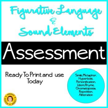 Figurative Language and Sound Element Assessment