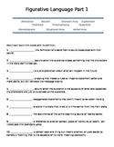 Figurative Language assessment-with DIFFERENTIATED version also