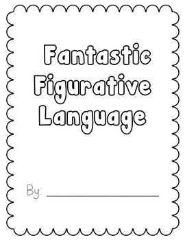 Figurative Language assignment / project book