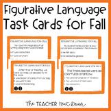 Figurative Language Task Cards for Fall   Figurative Language