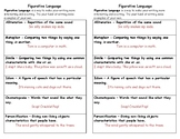 Figurative Language for the Journal