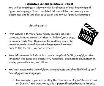 Figurative Language iMovie Project and Rubric