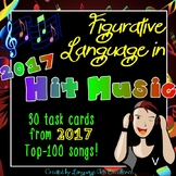 Figurative Language in 2017 Hit Music Task Cards