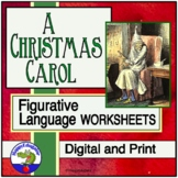 Figurative Language in A Christmas Carol Worksheets w/ TPT