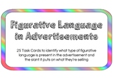 Figurative Language in Advertisements Worksheet + Task Cards