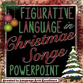 Christmas Song Figurative Language PowerPoint Presentation   TpT