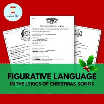 Figurative Language in Christmas Song Lyrics Worksheets