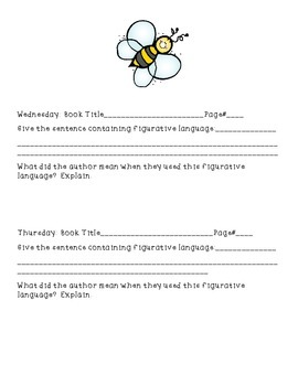 Figurative Language in Context Common Core Practice and Assessment & Homework