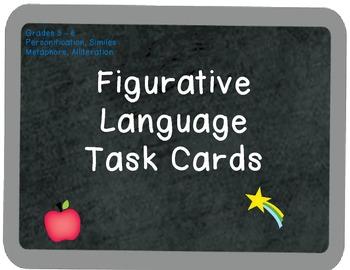 Figurative Language in Context Task Cards