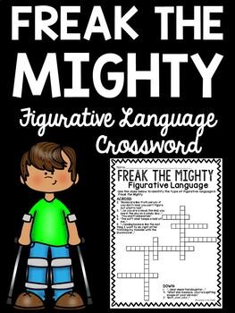 Figurative Language in Freak the Mighty Crossword Puzzle