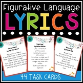 Figurative Language in Song Lyrics Task Cards