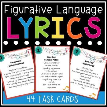 Figurative Language Song Lyrics Teaching Resources Teachers Pay