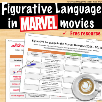 FREE Figurative Language in MARVEL movies