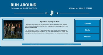 Figurative Language in Music Web Design Assignment