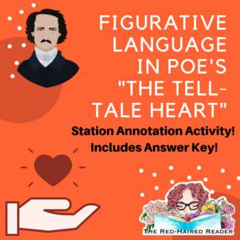 Figurative Language in Poe's The Tell-Tale Heart station activity