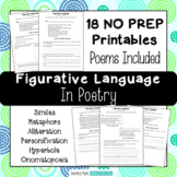 No Prep Figurative Language in Poetry - Activities - Distance Learning Packet