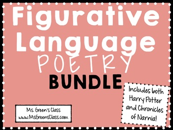 Figurative Language in Poetry BUNDLE!