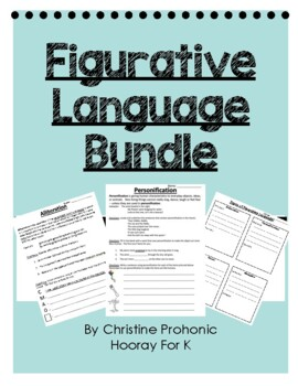 Figurative Language in Poetry Bundle