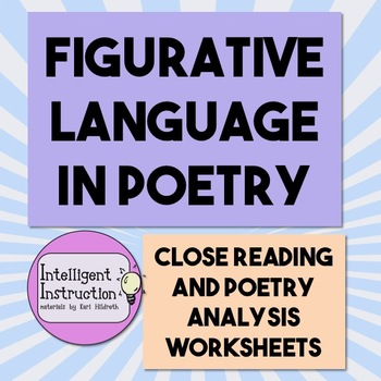 figurative language and poets Poetry is difficult to define, but there's one characteristic that most poems share -  figurative language in this lesson, you'll learn how to.