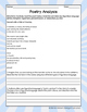 Figurative Language in Poetry: Close Reading and Poetry Analysis Worksheets II