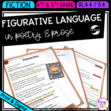 Figurative Language in Poetry and Prose 4th Grade RL.4.4 & 5th Grade RL.5.4
