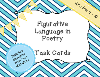 Figurative Language in Poetry - Task Cards