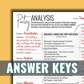 Figurative Language in Poetry {Worksheets} by Stacey Lloyd ...