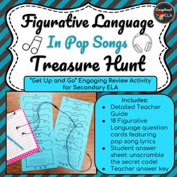 Figurative Language in Pop Songs Treasure Hunt