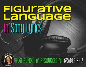 Figurative Language in Song Lyrics Growing BUNDLE