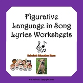 Figurative Language in Song Lyrics Worksheets