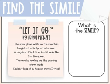 figurative language in songs task cards by upper elementary adventures. Black Bedroom Furniture Sets. Home Design Ideas