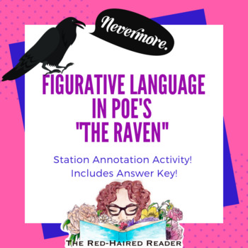 Figurative Language in The Raven Edgar Allan Poe station annotation activity