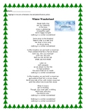 Figurative Language in Winter Songs