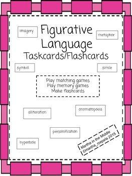 Figurative Language taskcards/flashcards