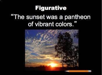 figurative language figurative vs literal powerpoint